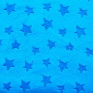 Polar minky gwiazdki bachelory button niebieski 380