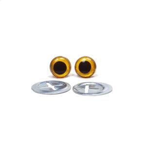 Oczka brązowe 9 mm