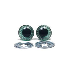 Oczka zielone 13 mm