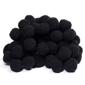 pomponiki czarne