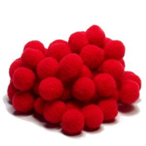 pomponiki czerwone