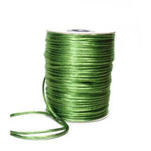 Sznurek satynowy zielony