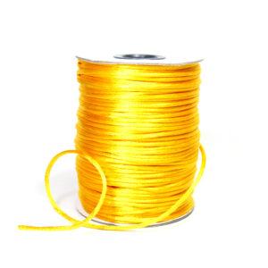 Sznurek satynowy żółty