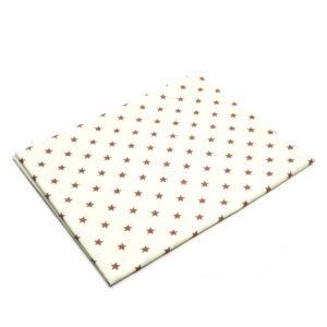 Tkanina bawełna gwiazdki brązowe na beżu