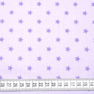 Tkanina bawełna gwiazdki 1 cm fiolet