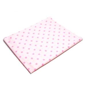 Tkanina bawełna gwiazdki różowy