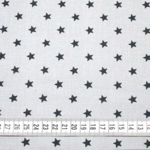 Tkanina bawełna gwiazdki 1 cm szary