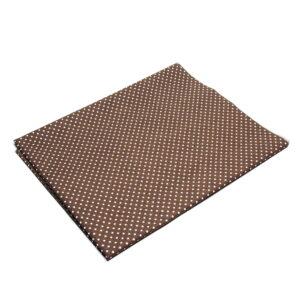 Tkanina bawełna kropeczki brąz 2 mm