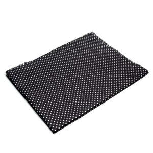 Tkanina bawełna kropeczki na czarnym 2 mm