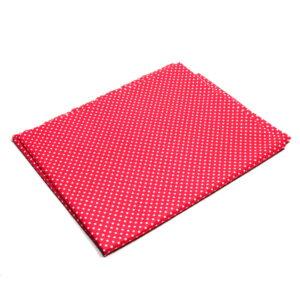 Tkanina bawełna kropeczki na czerwonym 2 mm