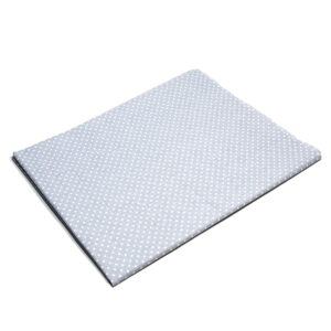 Tkanina bawełna kropeczki jasny szary 2 mm