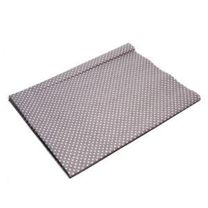 Tkanina bawełna kropeczki szary 2 mm