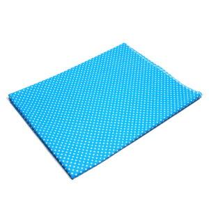 Tkanina bawełna kropeczki turkus 2 mm