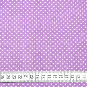 Tkanina bawełna kropeczki wrzos 2 mm