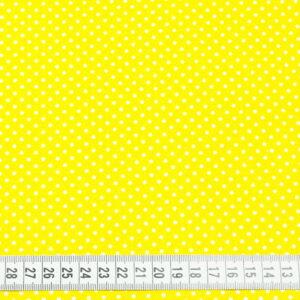 Tkanina bawełna kropeczki żółty 2 mm