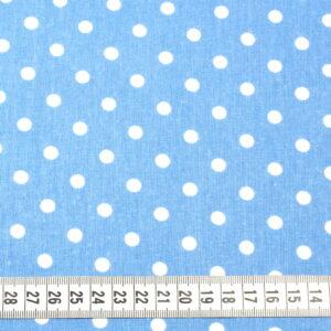 Tkanina bawełna kropki jeans 7 mm