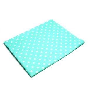 Tkanina bawełna kropki mięta 7 mm