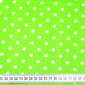 Tkanina bawełna kropki zieleń 7 mm