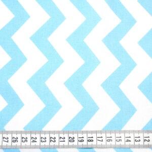 Tkanina bawełna zygzak niebieski