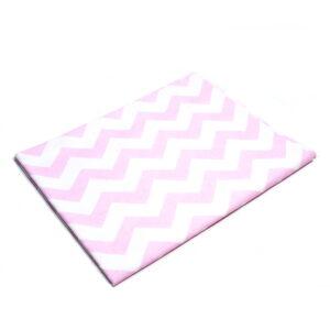 Tkanina bawełna zygzak różowy