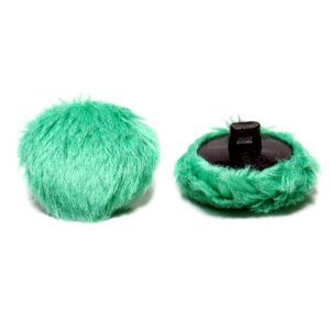 Guzik minky Mint ciemny zielony
