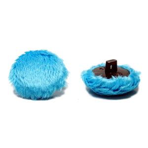 Guzik minky Bachelory button niebieski