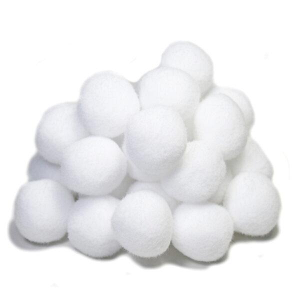 pompony białe