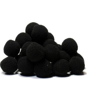 pompony czarne