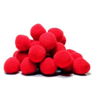 pompony czerwone