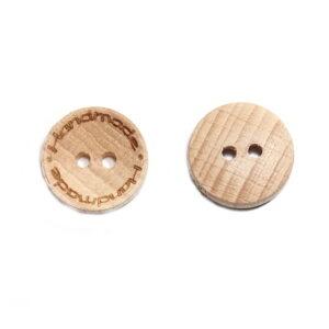 Guzik drewniany handmade