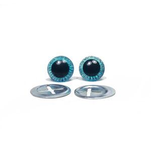 Oczka niebieskie 11 mm