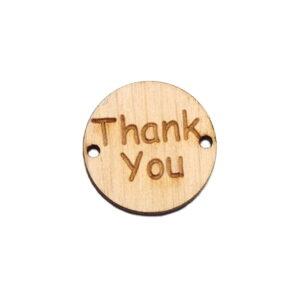 Przywieszka Thank you - drewniana okrągła