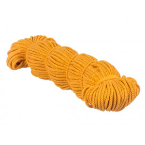 Sznurek bawełniany żółty