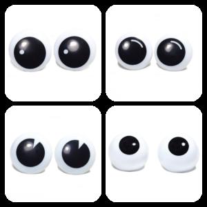 Czarno-białe okrągłe