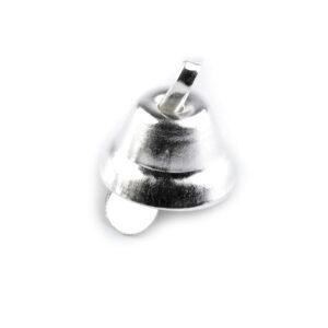DZWONECZEK METALOWY 7x11 mm - SREBRNY
