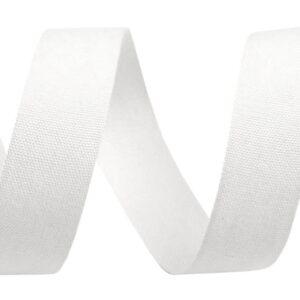 TASIEMKA BAWEŁNIANA BIAŁA DO NADRUKU 15 mm